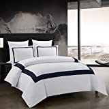 OSVINO 3 Pieces Microfiber Simple Line Style Duvet Cover and Pillow Shams Set Hotel Collection Ultra...