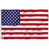 Anley Fly Breeze 3x5 Foot American US Polyester Flag - Vivid Color and UV Fade Resistant - Canvas...