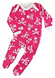 Pink Skull & Crossbones Baby Outfit Sleepsuit for Boys or Girls | New Alternative Pirate Romper...