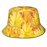 LLALUA Unisex Summer Fisherman Cap,Lively Daisies Fresh Bouquets with Natural Seasonal Bedding Plant...