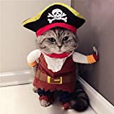 N/A Pet Dog Clothes Pet Clothes Dog Cat Funny Cat Costumes Pirate Suit Cat Clothes Kitty Kitten...