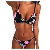 Swimsuits for Women Backless Minimal Cover Bathing Suits Push Up High Waisted Bottom 2 Piece Bikini...
