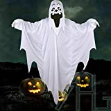 ANNIAN Adult Halloween Comedy Ghost White Sheet Style Costume Scary Fancy Dress Outfit
