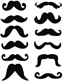 Pack Of 12 Novelty Assorted Moustaches Self Adhesive Moustache Set Fancy Dress Mexican Biker 118...
