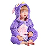 MICHLEY Unisex Baby Hooded Romper Autumn Winter Animal Flannel Jumpsuits Infant Toddler Costume...