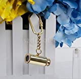 india .nautical .handicraft Brass Telescope Pendant Charm Carabiner Clip Key Chain Ring A