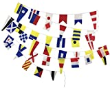 Brass Blessing Naval Signal Bunting Flags - Complete Set - Maritime/Marine/Boat/Beach Party Nautical...
