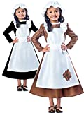 Child Victorian Girl Brown Fancy Dress Costume (11-12 Years)