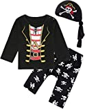 MOMBEBE COSLAND Baby Boys Pirate Clothing Sets Halloween Costume 3-6 Months Black