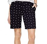 Tommy Hilfiger Womens Navy Anchor Print Short Size: 6