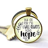 asd Anchor Faith Necklace But As for Me I Will Always Have Hope Bible Quote Christian Jewelry...
