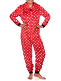 Disney Womens Minnie Mouse Onesie Red Size Small