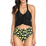 Swimsuits for Women Bathing Suits Push Up High Waisted Bottom 2 Piece Sexy Contrast Gradient Split...