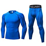Thermal Underwear Mens, Long Johns for Men Thermal Underwear Set Long Sleeve Base Layer Compression...