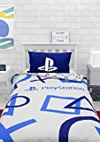 Character World Playstation Blue Single Duvet Cover Officially Licensed Sony Playstation Reversible...