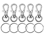 Paxcoo 100 Pcs Key Chain Hooks with Key Rings (Small Size)
