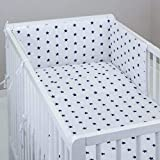 MillaLu 3 Pcs Baby Nursery Bedding Set fit to Cot 120x60cm or Cot Bed 140x70cm Padded Bumper (Fit to...