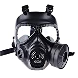 12che WST Gas Mask Head Mask Full Face Single Canister Gas Mask for Children, Cosplay,Halloween and...