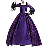 Easong Women's Prom Gothic Victorian Fancy Palace Masquerade Dresses Purple