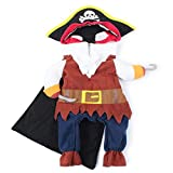 Pet Pirate Costume Pet Halloween Christmas Cosplay Dress Funny Dog Cat Cosplay Prop Dressing up...