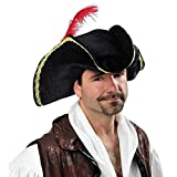 True Face Tricorn Hat Stage Party Buccaneer Caribbean Pirate Adult Fancy Turpin