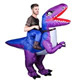 olyee Inflatable Dinosaur Costume Halloween Cosplay Costumes Gaint Suit T-Rex Cosplay Costume for...