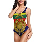 Funny Vute Swimwear The Royal Marines Milsim Unit Women's Beach Halter High ​Swimwear One Piece...