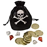 amscan 11012355 Pirate Coin & Drawstring Pouch Set