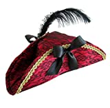 Stylex Party Ltd Ladies Deluxe Red Pirate Hat Shipmate Costume Fancy Dress Halloween UK