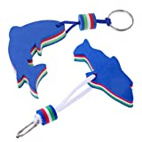 Nautical Floating Keychain Foam Dolphin Keyring Fobs for Boat Blue 2pcs/Pack