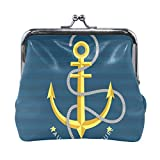 BONIPE Nautical Anchor Coin Purse Leather Mini Clutch Pouch Wallet for Women Girls