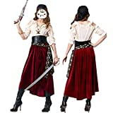 DISCOUNTL Halloween Cosplay New Female Pirate Costumes Europe and America Game Uniforms Role-Playing...