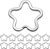 Angelra 50 Flower Clasps for Key Split Ring Craft Hobby Jewelry Jewellery - Keychain Making...