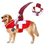 PAPIEEED Pet Elf Costume, Festival Dog Rider Clothes Funny Cat Outfit Cosplay Hatdress Headbands for...