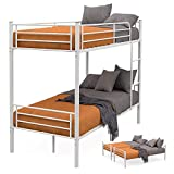 mecor 2 x 3FT Single Metal Detachable Bunk Beds Frame - Splits into 2 Beds - for Twins Kids Children...