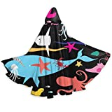 Esmund Cloak For Men And Woemn Seamless Graphic Pattern Of Marine Life Happy Halloween Greeting...