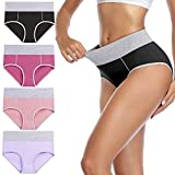 wirarpa Ladies High Waist Knickers Cotton Underwear Full Coverage Briefs Lovely Panties for Women...