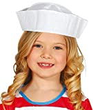 Boys Girls Classic White Sailor Hat Marine Navy Occupation Uniform Carnival TV Book Film Fancy Dress...