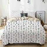 Duvet Cover Set Beige,Nautical Marine Elements Featured Lifebuoy Anchor Compass Sea Waves Kids...