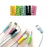 Happy Memories 5/10 Pcs Spiral Tube Charging Cable Protector Wire Cord Organizer Protetor for Apple...