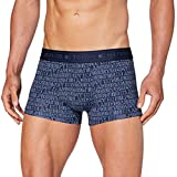 Tommy Hilfiger Men's Low Rise Trunk MF Print Hipsters, Blue (Navy Blazer CHS), Small (Size:SM)