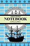 Nautical Themed Notebook: Novelty Gift Notebook/Journal - 130 pages, 6' x 9'