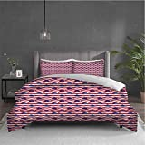 Whale Pure bedding hotel bed linen Abstract Nautical Waves with Blue Fishes Aquatic Life Baby...