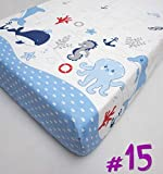Baby Comfort Nursery 100% Cotton Fitted Sheet to Fit 120 x 60 cm Cot Bed - Pattern 15