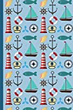 Nautical Themed Notebook For The Amazing Seafaring Man: Stylish Nautical Themed Notebook For The...