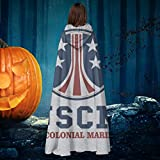 AISFGBJ USCM Colonial Marines Aliens Unisex Christmas Halloween Witch Knight Hooded Robe Vampires...