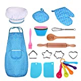 Anpole Kids Baking Set Best Gifts for 3-8 Year Old Girls Boys - 25 Piece, Blue