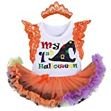 FYMNSI Baby Girl Halloween Outfit Newborn Infant My First 1st Halloween Fancy Dress Up Orange...