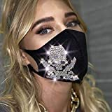 IYOU Glitter Crystal Masquerade Mask Black Sparkly Rhinestone Face Masks Bling Ball Party Mouth...
