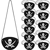 Pirate Eye Patches Black Felt One Eye Skull Captain Eye Patches for Halloween Christmas Pirate Theme...